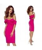 Malinowa sukienka ołówkowa - Bergamo Cloe