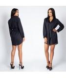 Czarna koszulowa sukienka Celin - Dursi