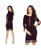 czarna dzienna sukienka Varia marki bergamo