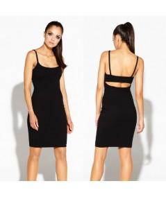 czarna dopasowana sukienka Dursi