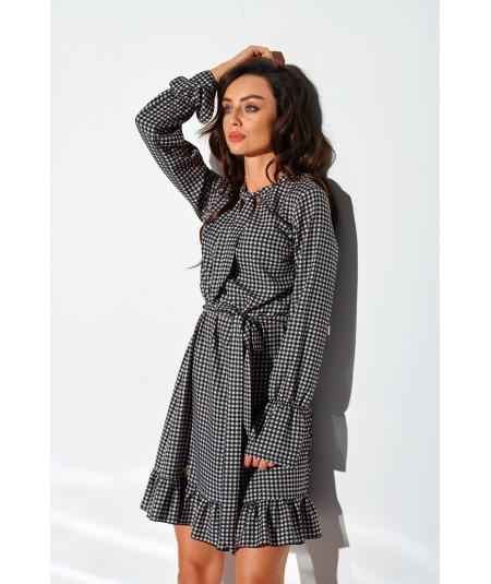 sukienka w delikatna kratke lemoniade lg509