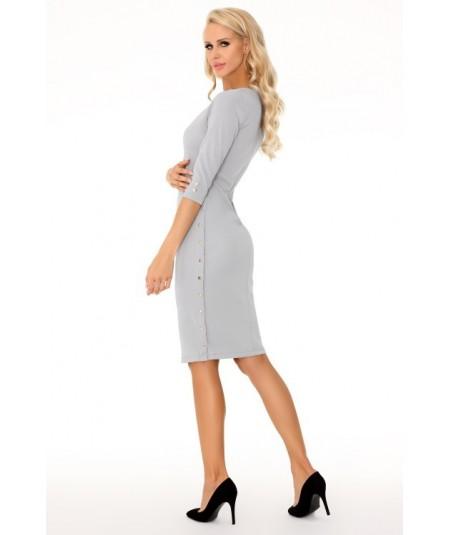 szara prosta sukienka damska marki merribel