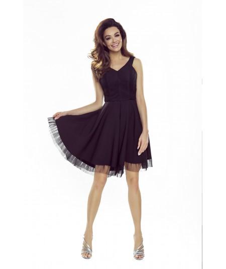 czarna rozkloszowana sukienka Bergamo M74447_1