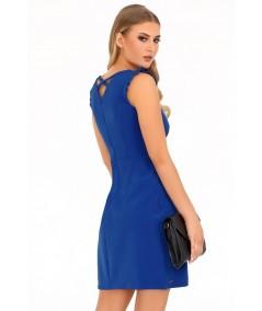 niebieska sukienka biznesowa