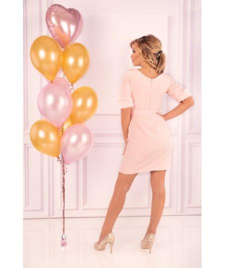 rózowa biznesowa sukienka merribel