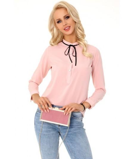 rózowa elegancka bluzka merribel
