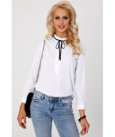 biała elegancka bluzka damska merribel