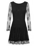 czarna koronkowa sukienka z tiulem scarlett ivon