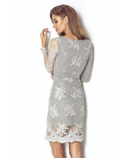 szara koronkowa sukienak PARIS marki IVON