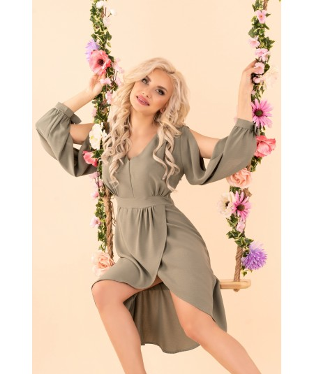 zielona sukienka z zakładką merribel model Mallani