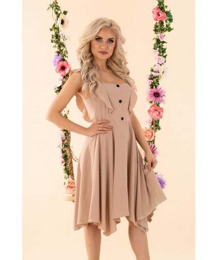 bezowa sukienka merribel Quellama