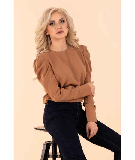 elegancka bluzka damska brązowa merribel