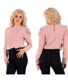 rózowa bluzka damska z bufami merribel