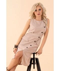 beżowa sukienka merribel Eqalisa
