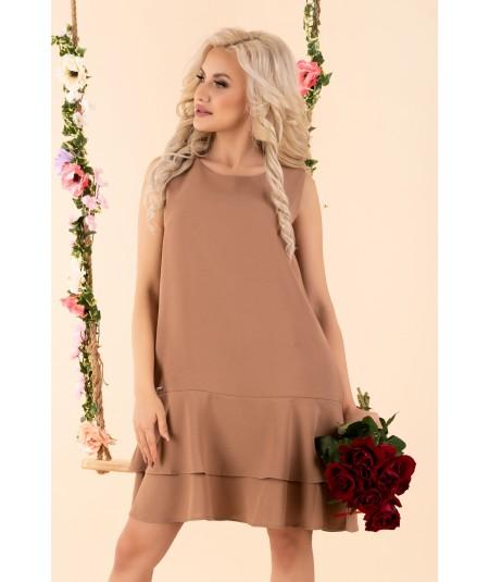 brązowa trapezowa sukienka merribel