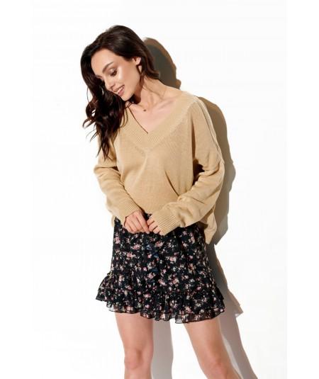 beżowy uniwersalny sweter lemoniade ls293