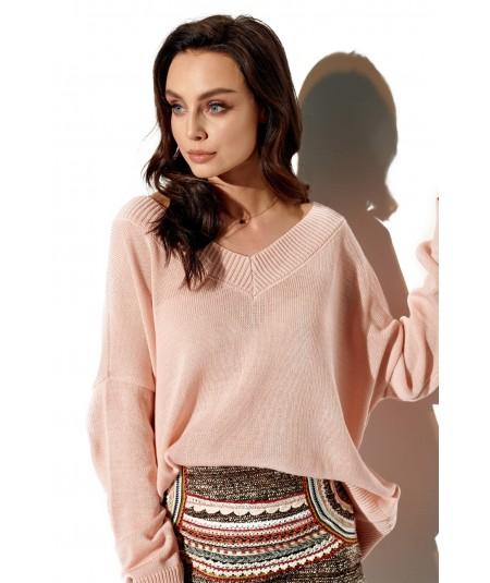morelowy sweter uniwersalny lemoniade ls293