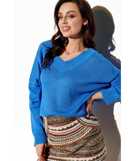 niebieski lekki sweter lemoniade