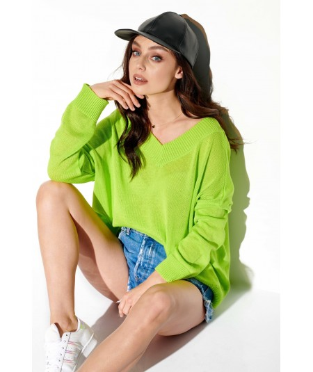 limonkowy sweter damski lemoniade