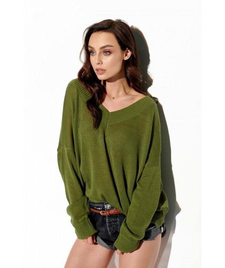 zielony sweter damski lemoniade LS293