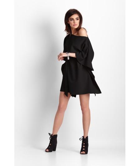 Sukienka w stylu nietoperza czarna