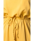 musztardowa sukienka midi merribel