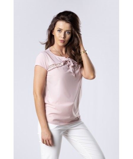 rózowa gładka bluzka damska merribel