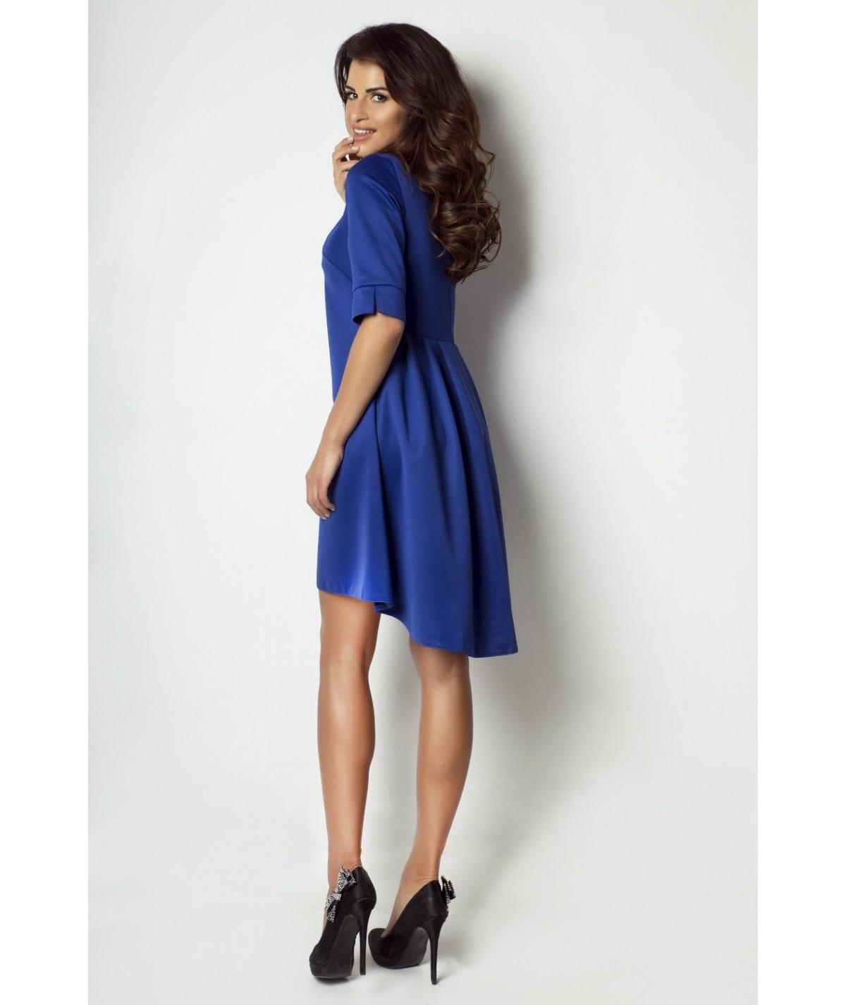 chabrowa asymetryczna sukienka ivon