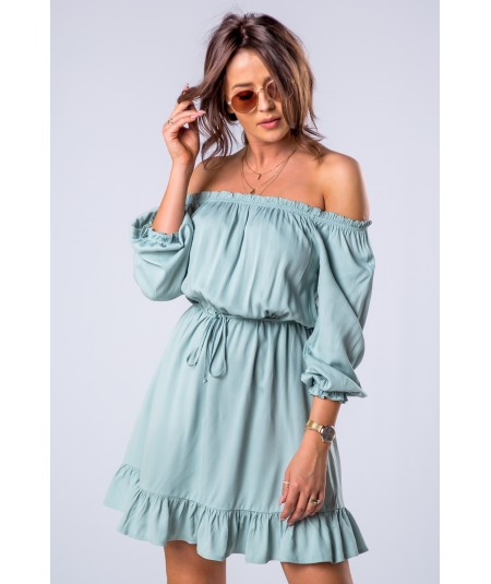 miętowa sukienka hiszpanka merribel