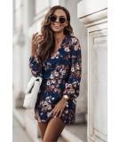 kwiecista jesienna sukienka z kieszeniami