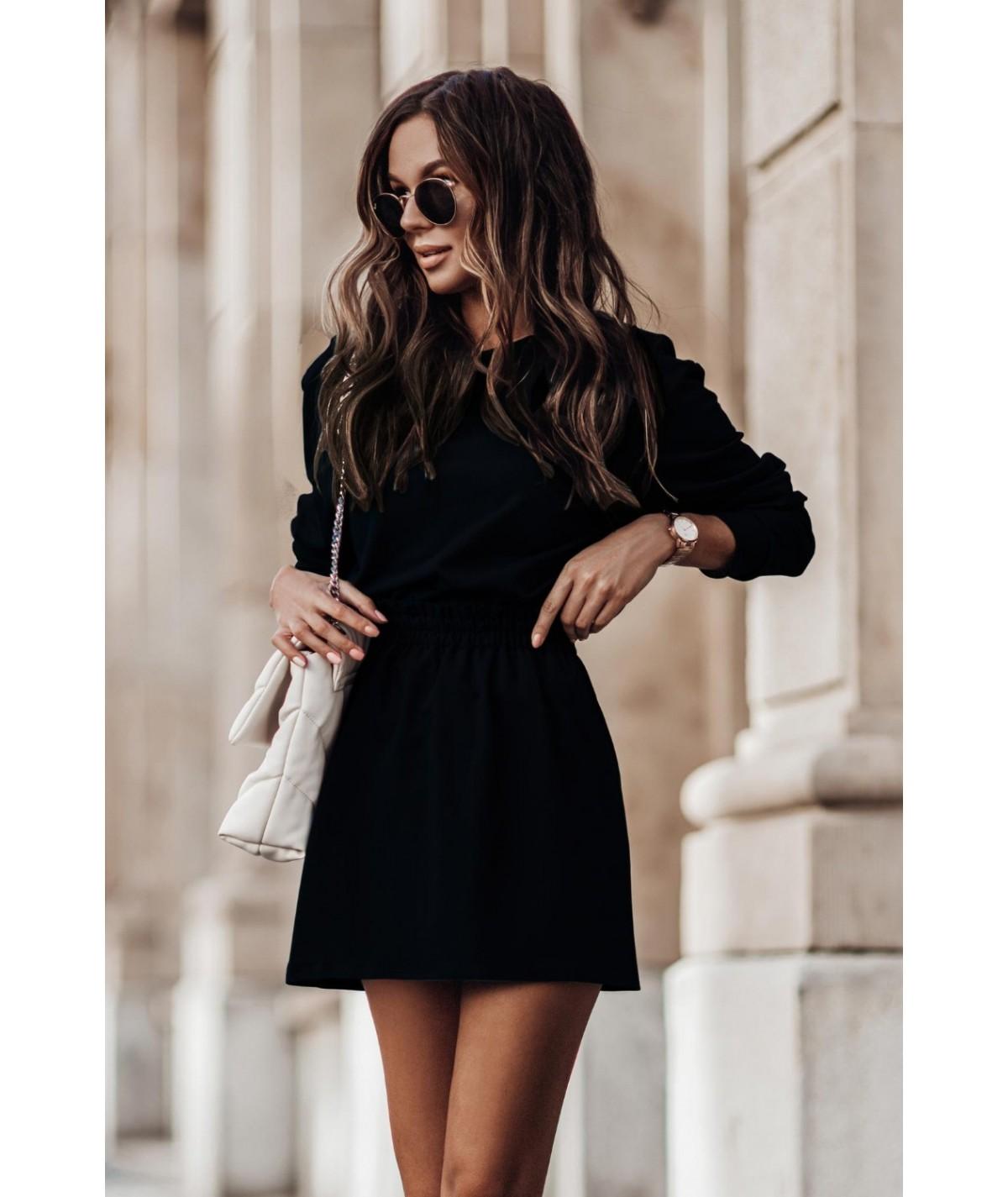 czarny bawełniany komplet damski ivon