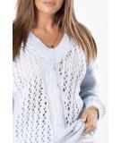 błekitny oversizowy sweter damski