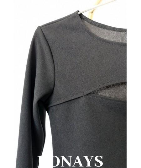 bluzka z dekoltem czarna