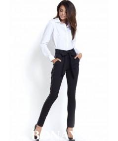 czarne eleganckie spodnie ivon