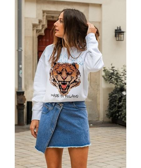 Biała bluza ROAR marki Chiara