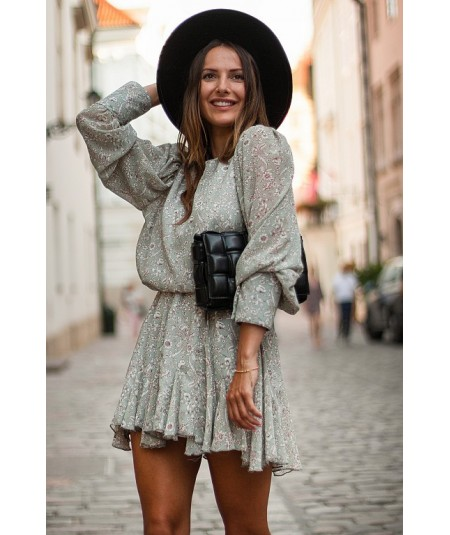 Szyfonowa miętowa sukienka Sharon CHIARA