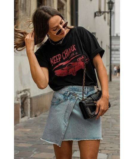 Oversizowy t-shirt damski KEEP CHIARA