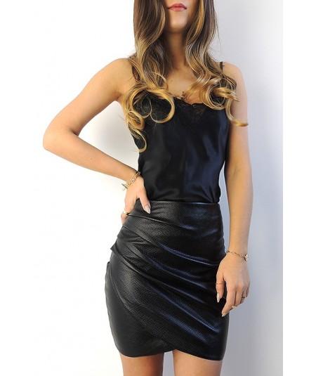Zakładana, drapowana spódnica mini Hana