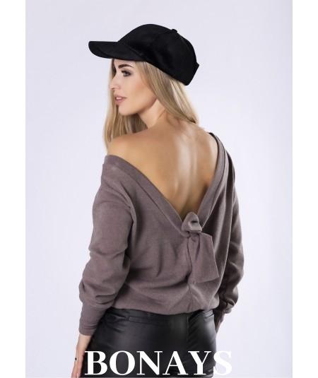 Dzianinowy sweter z wiązaniem na plecach Vennice