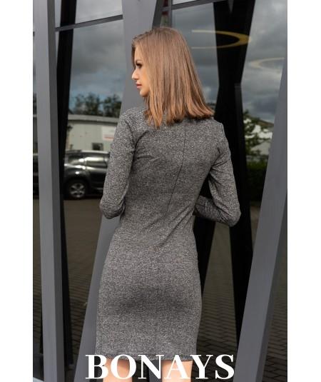 Basicowa dopasowana sukienka szara Agnisam