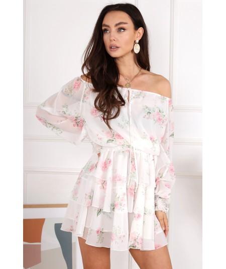 Sukienka typu hiszpanka w kwiatuszki DELIGHT Brandenburg Couture