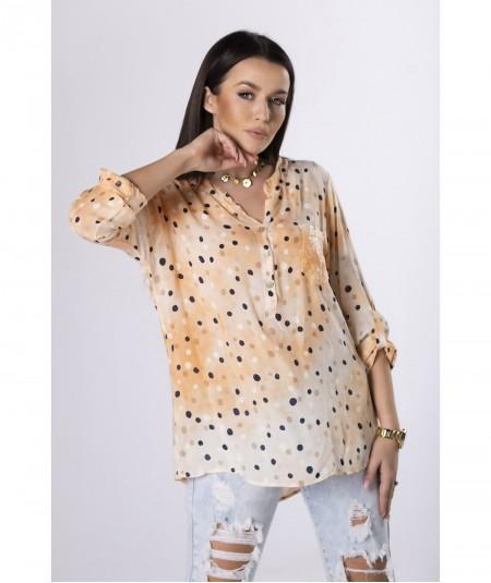 Pomarańczowa cieniowana lekka koszula damska Kejsi