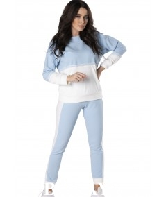 Błękitny dres damski z koronką Riley