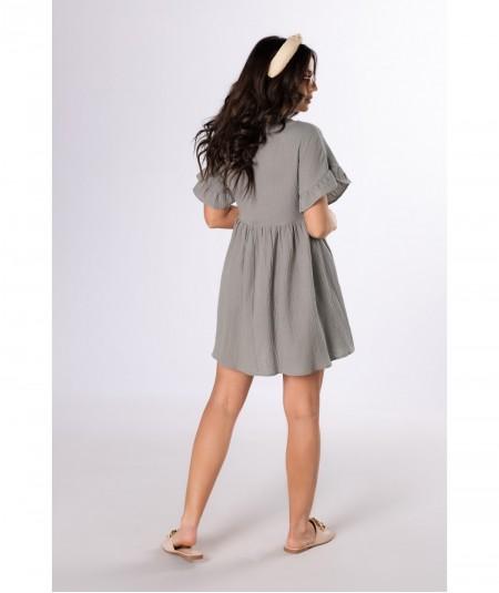 Zielona oversizowa sukienka z bawełny Clarke