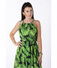 Plażowa sukienka maxi z printem