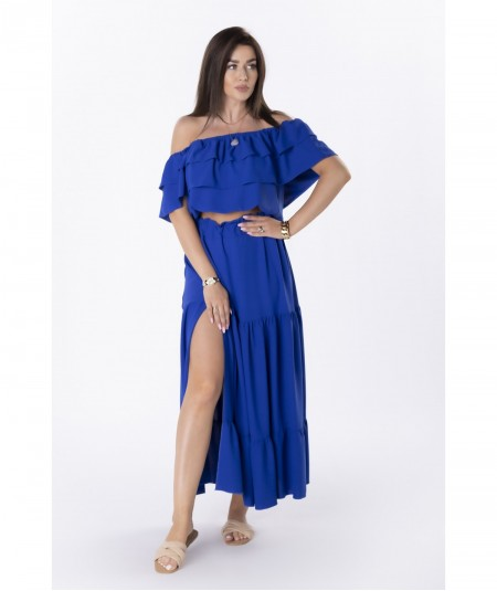 Hiszpański komplet spódnica maxi i bluzka chaber