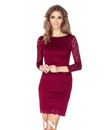3706c5fdd76 145 2 Sukienka z KORONKI BORDOWA