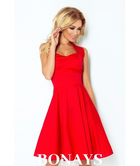 b940d77d63d Sukienka Pin Up - czerwona z guzikami