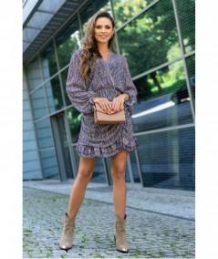 Kopertowa sukienka z marszczeniami Ealonna