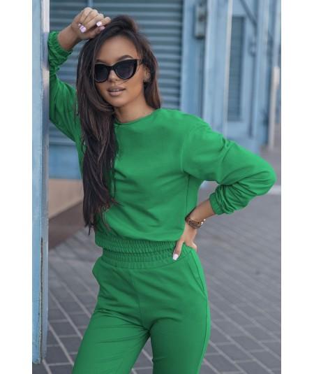 Długi dres damski CLASSIC w kolorze bottega green